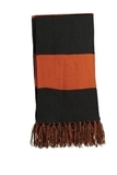 Spectator Scarf Black with Deep Orange Thumbnail