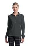 Women's Nike Golf Long Sleeve Dri-FIT Stretch Tech Polo Shirt Anthracite Thumbnail