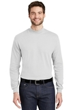 Interlock Knit Mock Turtleneck White Thumbnail