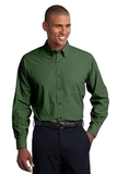 Crosshatch Easy Care Shirt Dark Cactus Green Thumbnail