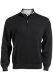 87 Cotton/13 Nylon Pull Over Sweater Black Thumbnail