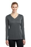 Women's Long Sleeve V-neck Competitor Tee Iron Grey Thumbnail