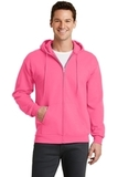 7.8-oz Full-zip Hooded Sweatshirt Neon Pink Thumbnail