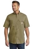 Carhartt Force Ridgefield Solid Short Sleeve Shirt Dark Khaki Thumbnail