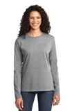 Women's Long Sleeve 5.4-oz 100 Cotton T-shirt Athletic Heather Thumbnail