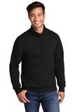 Core Fleece 1/4-Zip Pullover Sweatshirt Jet Black Thumbnail