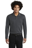 RacerMesh Long Sleeve Polo Graphite Thumbnail