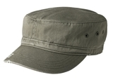 Distressed Military Hat Olive Thumbnail