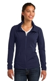 Women's Sport-wick Stretch Full-zip Jacket True Navy Thumbnail