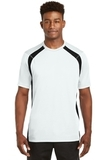 Dry Zone Colorblock Crew White with Black Thumbnail