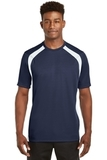 Dry Zone Colorblock Crew True Navy with White Thumbnail