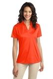 Port Authority Ladies Silk Touch Performance Polo Neon Orange Thumbnail