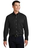 Long Sleeve Twill Shirt Black Thumbnail