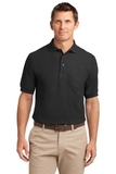 Tall Silk Touch Polo Shirt With Pocket Black Thumbnail