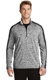 Electric Heather Colorblock 1/4-Zip Pullover Black Electric with Black Thumbnail