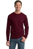 Moisture Management 50/50 Cotton / Poly Long Sleeve T-shirt Maroon Thumbnail