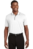 Dri-mesh Polo Shirt With Tipped Collar And Piping White with Black Thumbnail