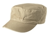 Distressed Military Hat Khaki Thumbnail