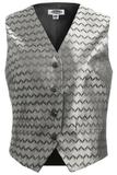 Women's Swirl Brocade Vest Silver Thumbnail