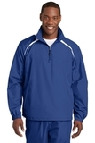 1/2-zip Wind Shirt True Royal with White Thumbnail