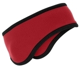 Two-color Fleece Headband Red Thumbnail