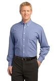 Plaid Pattern Easy Care Shirt Navy Thumbnail