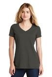 Women's New Era Heritage Blend VNeck Tee Graphite Thumbnail