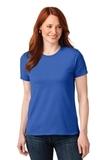Screenprinted Women's 50/50 Cotton / Poly T-shirt Royal Thumbnail