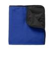 Fleece Poly Travel Blanket True Royal with Black Thumbnail