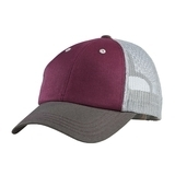 District Tri-tone Mesh Back Cap Maroon with Charcoal and Grey Thumbnail