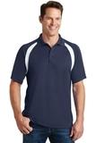 Dry Zone Colorblock Raglan Polo Shirt True Navy with White Thumbnail
