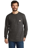 Carhartt Workwear Pocket Long Sleeve T-Shirt Carbon Heather Thumbnail
