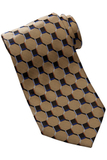 Men's Silk Honeycomb Tie Gold Thumbnail