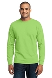 Long Sleeve 50/50 Cotton / Poly T-shirt Lime Thumbnail