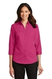 Women's 3/4Sleeve SuperPro Twill Shirt Pink Azalea Thumbnail