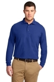 Tall Silk Touch Long Sleeve Polo Royal Thumbnail