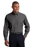 Tall Crosshatch Easy Care Shirt Soft Black Thumbnail