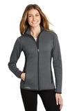 Women's Eddie Bauer Full-Zip Heather Stretch Fleece Jacket Dark Charcoal Heather Thumbnail