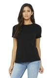 BELLACANVAS Women's Relaxed Jersey Short Sleeve Tee Black Thumbnail