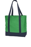 Day Tote Classic Green with Navy Thumbnail