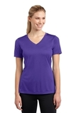 Women's V-neck Competitor Tee Purple Thumbnail