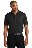 Dry Zone Colorblock Ottoman Polo Shirt Black with Iron Grey Thumbnail