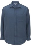 Edwards Men's Batiste Dress Shirt Riviera Blue Thumbnail