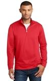 Performance Fleece 1/4Zip Pullover Sweatshirt Red Thumbnail