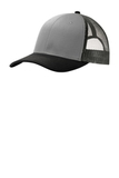 Snapback Trucker Cap Gusty Grey with Black and Grey Steel Thumbnail