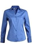 V-neck Tailored Stretch Dress Shirt French Blue Thumbnail