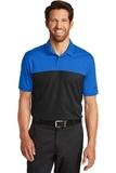 Nike Golf DriFIT Colorblock Micro Pique Polo Blue Sapphire with Black Thumbnail