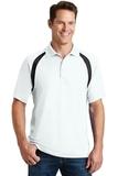Dry Zone Colorblock Raglan Polo Shirt White with Black Thumbnail