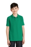 Youth Silk Touch Polo Shirt Kelly Green Thumbnail