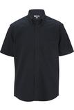 Men's Cotton Rich Short Sleeve Twill Shirt Navy Thumbnail